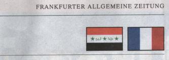 Flaggen: Irak und Frankreich