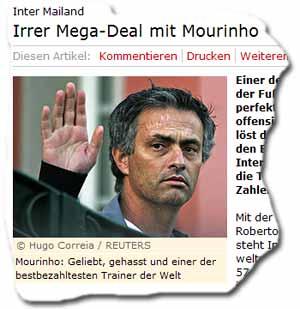 »Mourinho: einer der bestbezahltesten Trainer der Welt«