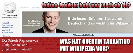 Was hat Quentin Tarantino mit Wikipedia vor?